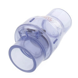 """1-1/2"""" Clear Flapper Check Valve, No Spring (Slip) Product Image"""