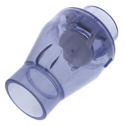 """2"""" Clear Flapper Check Valve, No Spring (Slip) Product Image"""