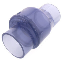 """3"""" Clear Flapper Check Valve, No Spring (Slip) Product Image"""
