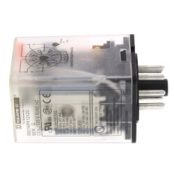 Plug In 8 Pin Relay, DPDT, Cylindrical Terminals, Pilot Light (120V) Product Image
