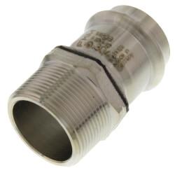 "4"" ProPress 304 SS Male Adapter w/ FKM<br>(P x MNPT) Product Image"