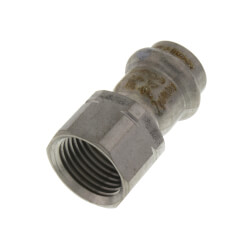 "1/2"" ProPress 304 SS Female Adapter w/ FKM<br>(P x FNPT) Product Image"