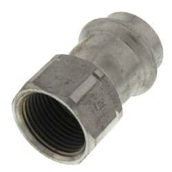 """3/4"""" x 1/2"""" ProPress 304 SS Female Adapter w/ FKM<br>(P x FNPT) Product Image"""
