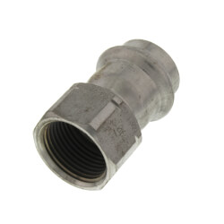 "3/4"" ProPress 304 SS Female Adapter w/ FKM<br>(P x FNPT) Product Image"