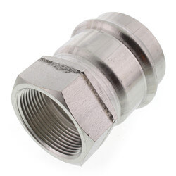 """2"""" x 1-1/2"""" ProPress 304 SS Female Adapter w/ FKM<br>(P x FNPT) Product Image"""