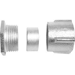 """1/2"""" Rigid Malleable Iron Three Piece Coupling Product Image"""
