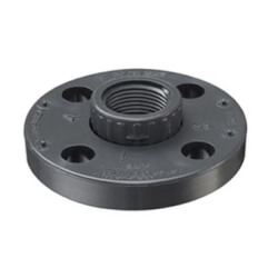 "1/2"" PVC Schedule 80 Van Stone Flange w/ PVC Ring (FIPT) Product Image"