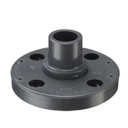 "1/2"" PVC Schedule 80 Van Stone Flange w/ PVC Ring (Spigot) Product Image"