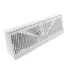 "15"" White Baseboard Diffuser (406 Series) Product Image"