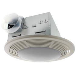 "8663RP Vent Fan w/ Light & Night Light, 4"" Round Duct (100 CFM) Product Image"