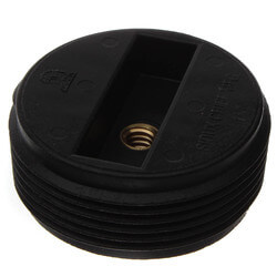"1-1/2"" Slotted ABS Flush Plug w/ Threaded Brass Insert Product Image"
