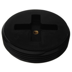 """3"""" Slotted ABS Flush Plug w/ Threaded Brass Insert Product Image"""