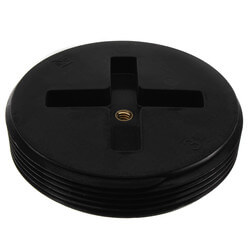 """3-1/2"""" Slotted ABS Flush Plug w/ Threaded Brass Insert Product Image"""