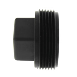"""1-1/2"""" Square Head Polypro Cleanout Plug (Black) Product Image"""