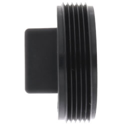 """2"""" Square Head Polypro Cleanout Plug (Black) Product Image"""