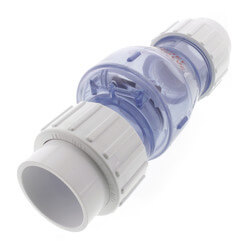 """1-1/2"""" Clear Flapper Check Valve w/ Union, No Spring (Slip) Product Image"""