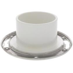 "Total Knockout Closet Flange w/ Steel Swivel Ring (3"" Hub / 4"" Inside) Product Image"