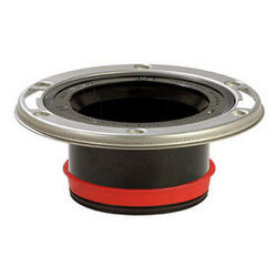 "Push-Tite Flush to Floor Closet Flange w/ SS<br>Swivel Ring (4"" Inside) Product Image"