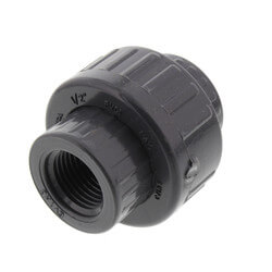 """1/2"""" PVC Sch. 80 Union With EPDM O-Ring Seal<br>(FPT x FPT) Product Image"""