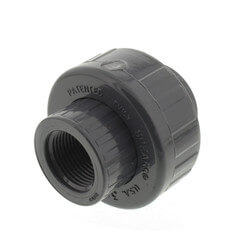 """3/4"""" PVC Sch. 80 Union With EPDM O-Ring Seal<br>(FPT x FPT) Product Image"""