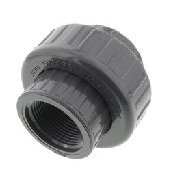 """1-1/4"""" PVC Sch. 80 Union With EPDM O-Ring Seal<br>(FPT x FPT) Product Image"""