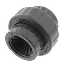 """1-1/2"""" PVC Sch. 80 Union With EPDM O-Ring Seal<br>(FPT x FPT) Product Image"""