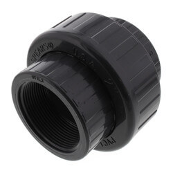 """2"""" PVC Sch. 80 Union With EPDM O-Ring Seal<br>(FPT x FPT) Product Image"""