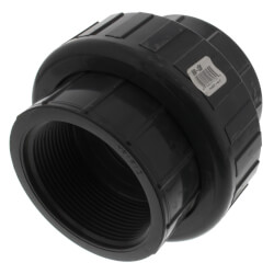 """3"""" PVC Sch. 80 Union With EPDM O-Ring Seal<br>(FPT x FPT) Product Image"""