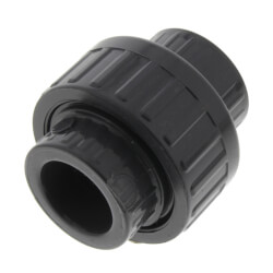 "1/2"" PVC Sch. 80 Union With EPDM O-Ring Seal<br>(S x FPT) Product Image"