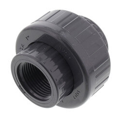 "1"" PVC Sch. 80 Union With EPDM O-Ring Seal<br>(S x FPT) Product Image"