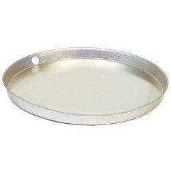 "24"" Aluminum Water Heater Drain Pan w/ Fitting Product Image"