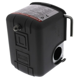 Water Pump Pressure Switch, 40/60 PSI, DPST w/ Manual Switch & Low Pressure Cut-Off Product Image