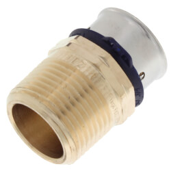 """3/4"""" PEX Press Male Adapter w/ Sleeve (Lead Free) Product Image"""
