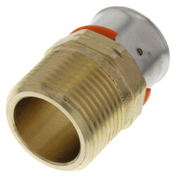 """1"""" PEX Press Male Adapter w/ Sleeve (Lead Free) Product Image"""