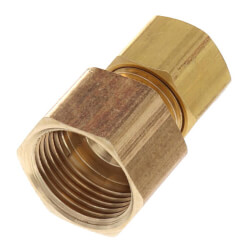 """1/4"""" Lead Free OD x 3/8"""" FIP Brass Compression Connector Product Image"""