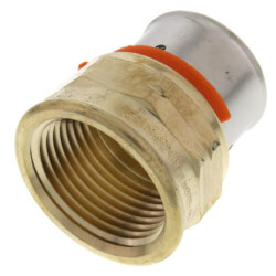 "1"" PEX Press Female Adapter w/ Sleeve (Lead Free) Product Image"