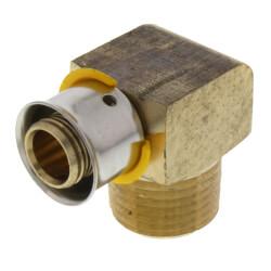 "1/2"" PEX Press x Male 90° Elbow w/ Sleeve (Lead Free) Product Image"