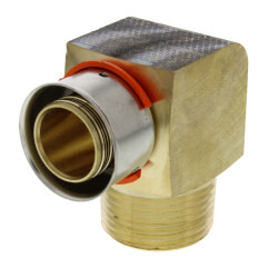 """1"""" PEX Press x 1"""" Male 90° Elbow w/ Attached Sleeve (Lead Free) Product Image"""