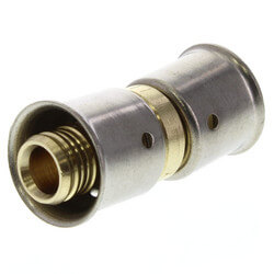 "3/8"" PEX Press Coupling w/ Sleeve (Lead Free) Product Image"