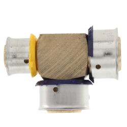 "3/4"" x 1/2"" x 3/4"" PEX Press Reducing Tee w/ Sleeve (Lead Free) Product Image"