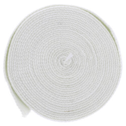 High Temperature Flat Gasket Tape for Boiler & Furnace, 1000F (1'' x 1/8'' x 25ft) - White Product Image