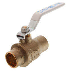 "3/4"" Sweat Full Port Ball Valve <br>Lead Free) Product Image"