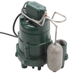 M95 Flow-Mate Premium Cast Iron Submersible Sump Pump w/ Vertical Float Switch (1/2 HP, 115V, 1 PH) Product Image