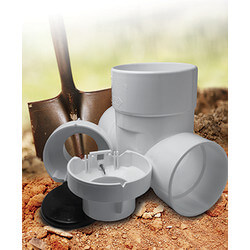 "6"" PVC Clean Check Backwater Valve Product Image"