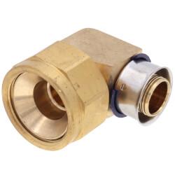 "3/4"" PEX Press x 3/4"" Flare 90° Elbow (Lead Free) Product Image"