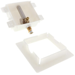 """Ice Maker Outlet Box with Water Hammer Arrestor - 1/2"""" PEX Press (Lead Free)  Product Image"""