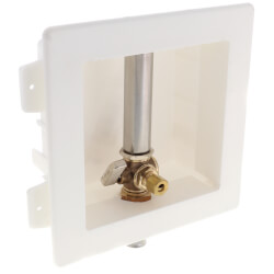 "Ice Maker Outlet Box with Water Hammer Arrestor - 1/2"" PEX Press (Lead Free)  Product Image"