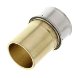 """1"""" PEX Press Copper Fitting Adapter w/ Sleeve (Lead Free) Product Image"""