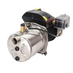 JP10S-SS (JP4-61ASI) Shallow Well Jet Pump, Stainless Steel (115/230V, 1 HP) Product Image
