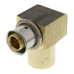 """1/2"""" PEX Press Copper Pipe Sweat 90° Elbow w/ Sleeve (Lead Free) Product Image"""